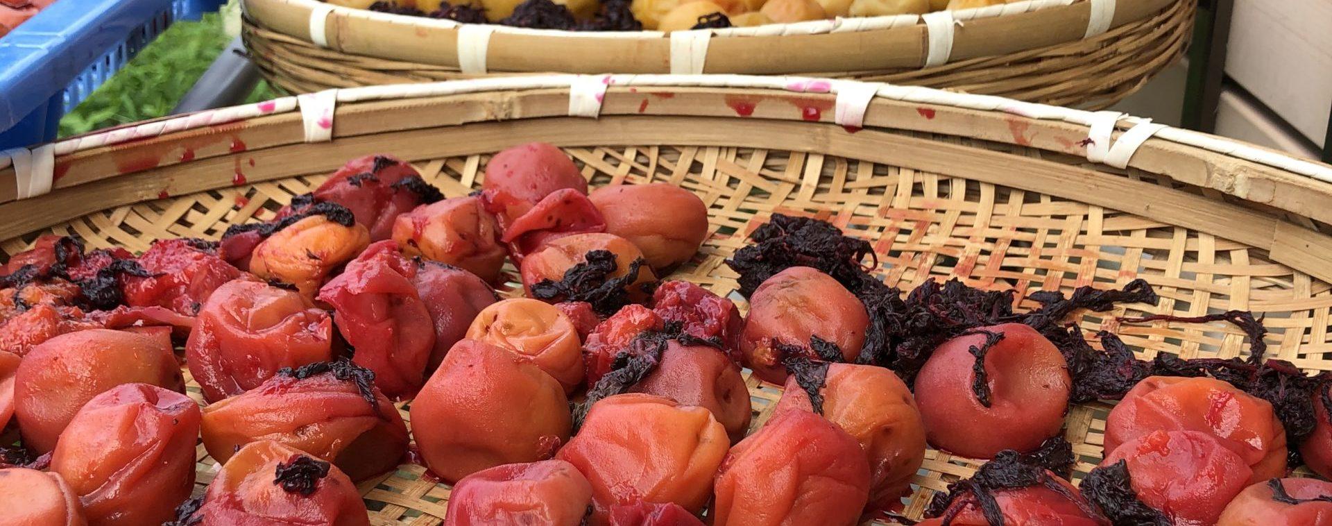 Hozu ままやの無農薬自然栽培の梅を三日三晩天日と月にほす